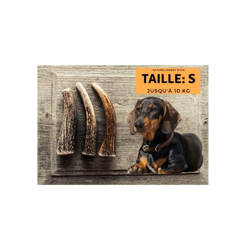 Bois de cerf pour chien entier : Taille S