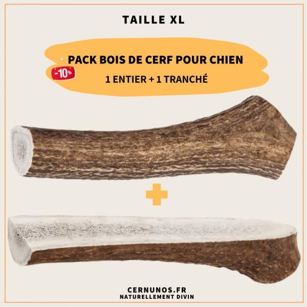 Pack bois de cerf pour chien taille XL