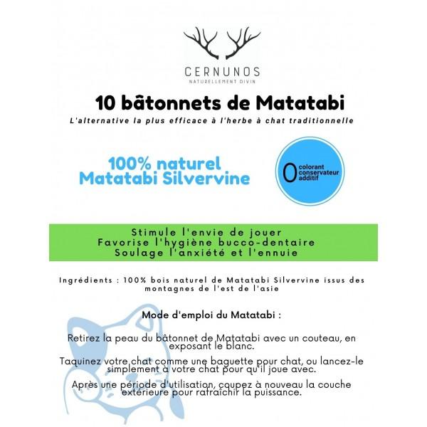 Pack Matatabi : sachet de 10 Bâtonnets + poudre